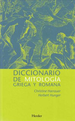 Portada de Diccionario mitología de Harrauer