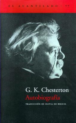Portada de Autobiografía Chesterton