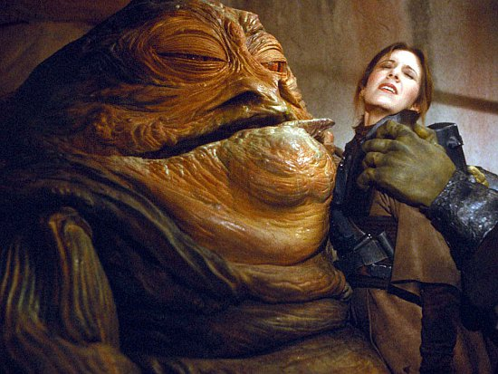 Jabba y Leia