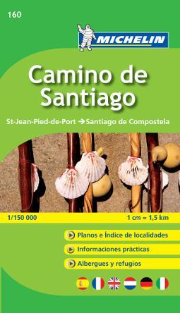 Mapa guía Michelín del Camino de Santiago
