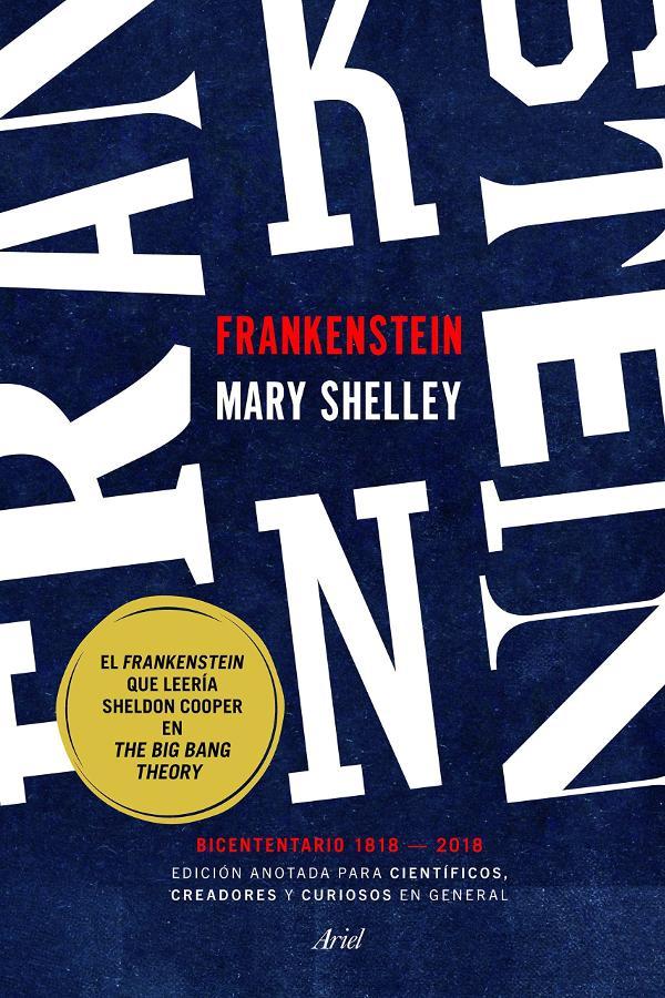 Portada de Frankenstein edición anotada
