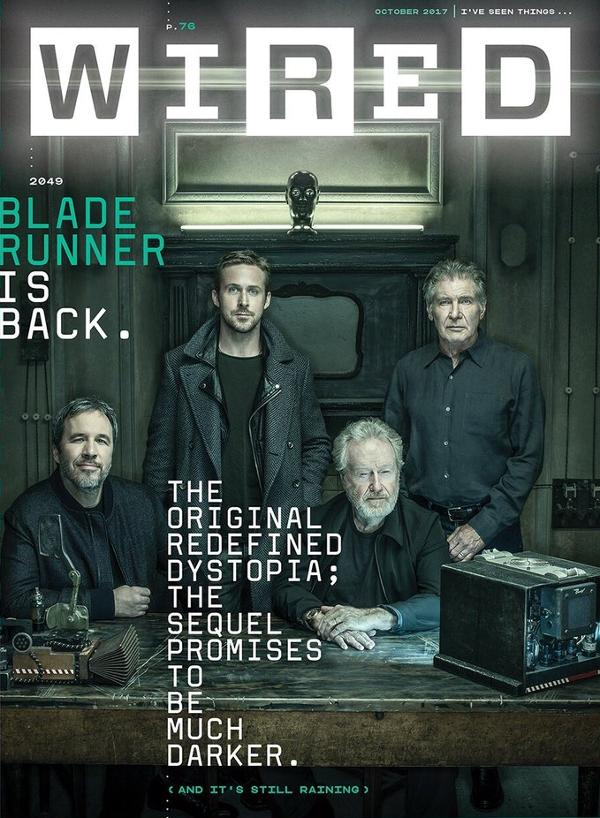 Portada de Wired cover Blade Runner 2049