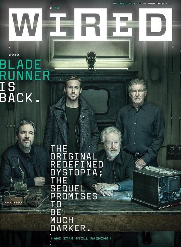 Portada de Wired cover Blade Runner 2049