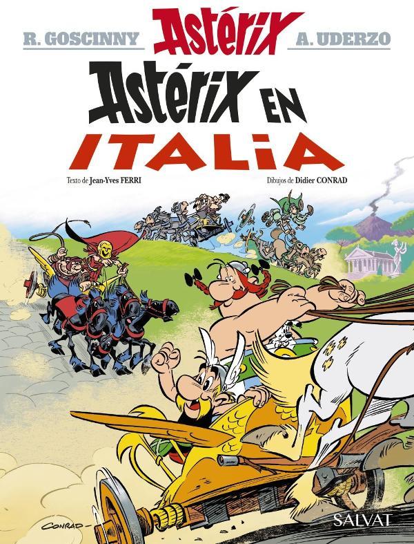 Portada de Astérix en Italia