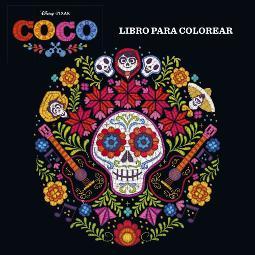 Portada de Coco libro para colorear