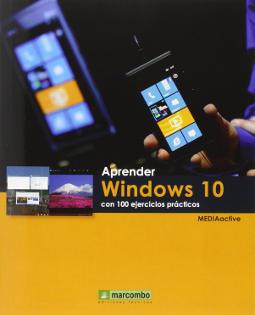 Portada de Aprender Windows 10 con 100 ejercicios prácticos
