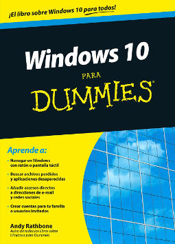 Portada de Windows 10 para Dummies
