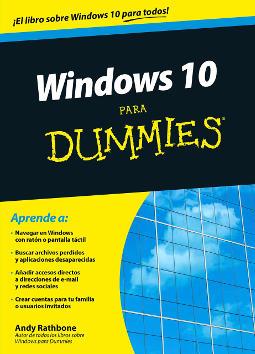 Portada de Windows 10 para Dummies
