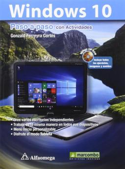 Portada de Windows 10 paso a paso con actividades