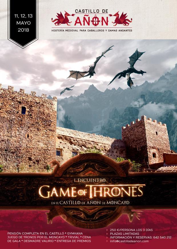 Cartel del Encuentro Juego de Tronos en el Castillo de Añón