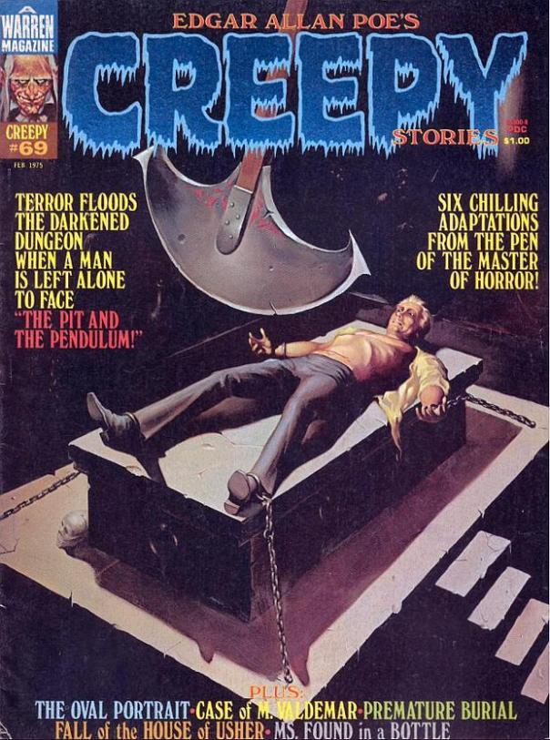 Portada de Creepy Magazine 69