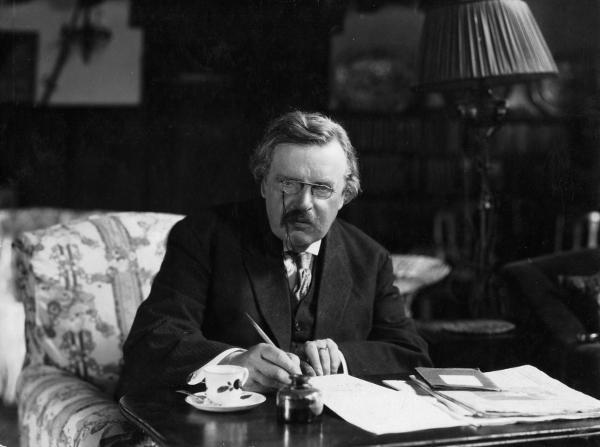 Fotografía de G. K. Chesterton