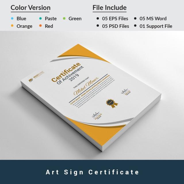 Plantilla de certificado para Sitio de Gráficos