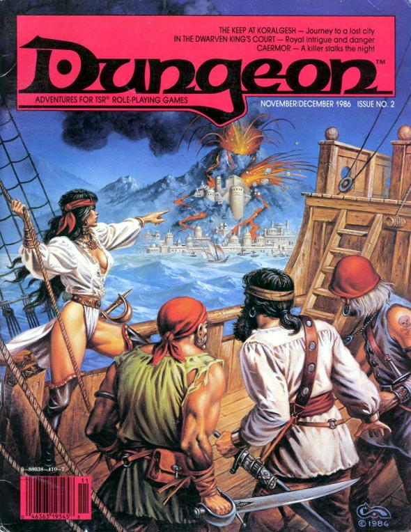 Portada de la revista Dungeon